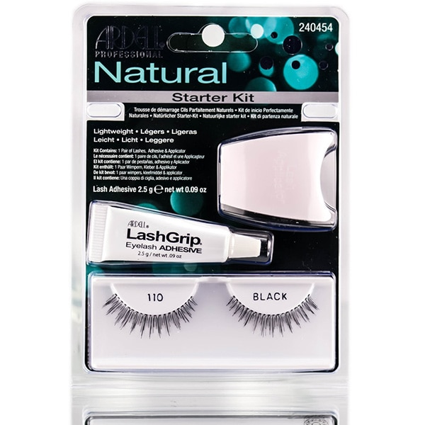 Kit Gene false ARDELL Natural Lash: Gene false banda ARDELL Natural Lash, 110 Black + Adeziv gene false ARDELL LashGrip, 2.5gr + Aplicator de gene ARDELL, alb