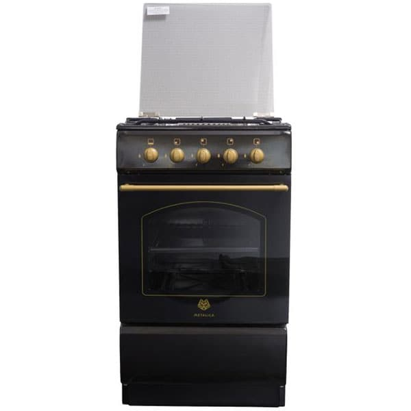 Aragaz METALICA F4 1685 S1, 4 arzatoare, gaz, negru rustic