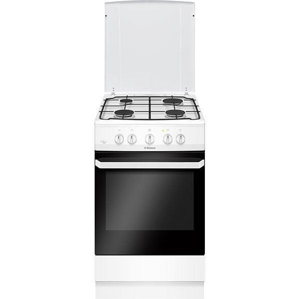 Aragaz HANSA FCGW51099, 4 arzatoare, Gaz, L 50 cm, alb