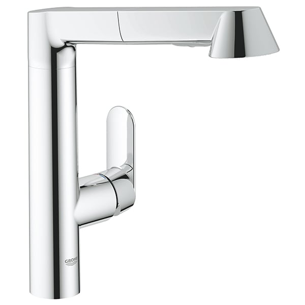 Baterie bucatarie GROHE K7 32176000, dus extractibil, metal, crom