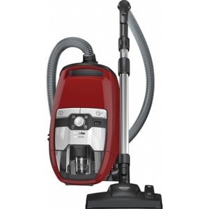Aspirator fara sac MIELE Blizzard CX1 Red PowerLine SKRF3, 2l, 890W, sistem Silence, rosu-negru
