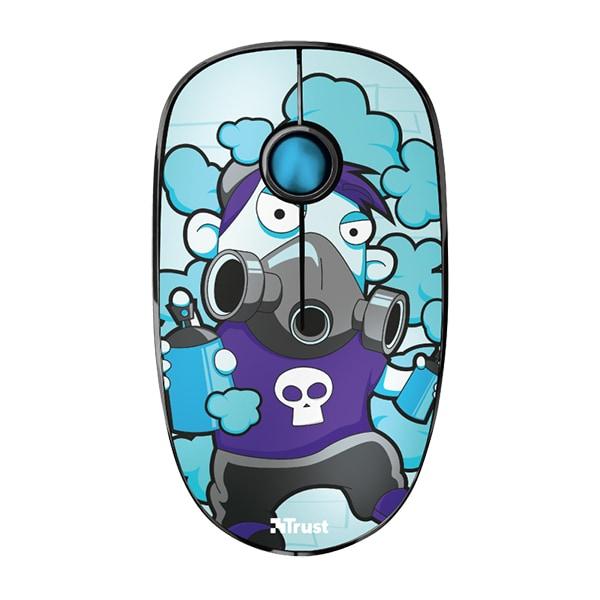Mouse Wireless TRUST Sketch Silent Click, 1600 dpi, albastru