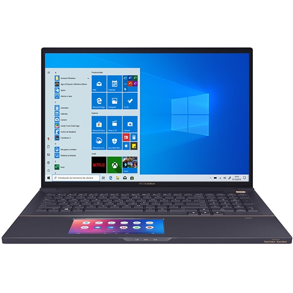 "Laptop ASUS ProArt StudioBook Pro X W730G1T-H8004R, Intel Core i7-9750H pana la 4.5GHz, 17"" WUXGA, 32GB, SSD 1TB, NVIDIA Quadro T1000 4GB, Windows 10 Pro, Star Grey"
