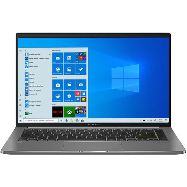 "Laptop ASUS VivoBook S14 S435EA-KC050R, Intel Core i7-1165G7 pana la 4.7GHz, 14"" Full HD, 16GB, SSD 1TB, Intel Iris Xe Graphics, Windows 10 Pro, verde inchis"