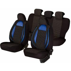 Set huse scaune UMBRELLA Racing 44488, negru-albastru