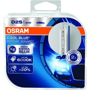 Bec auto xenon pentru far OSRAM Cool Blue intense, D2S, 35W, P32d-2, 2 bucati