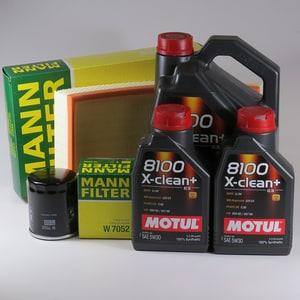 Pachet schimb ulei MOTUL 8100 X-clean+ 5W30, Volkswagen Transporter T5, 2.0 TDI, 180CP, 2009-prezent