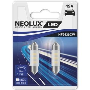 Set 2 becuri LED NEOLUX NF6436CW-02B, C5W, 0,5W, 12V