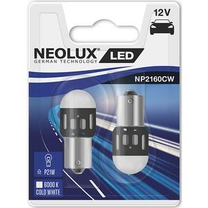 Set 2 becuri LED NEOLUX NP2160CW-02B, P21W, 1,2W, 12V