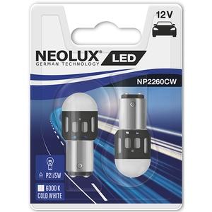 Set 2 becuri LED NEOLUX NP2260CW-02B, P21/5W, 1,2W, 12V