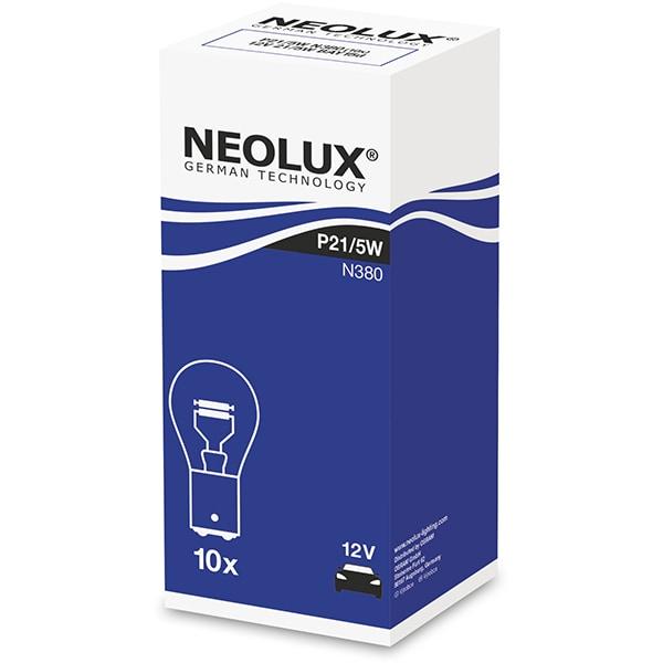 Set 10 becuri Halogen NEOLUX N380, P21/5W, 21W/5W, 12V