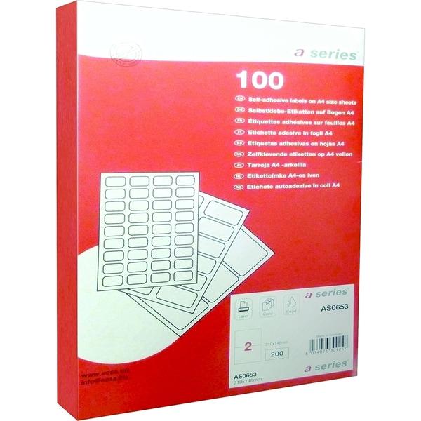 Etichete autoadezive A-SERIES, 210 x 148 mm, 200 bucati/top