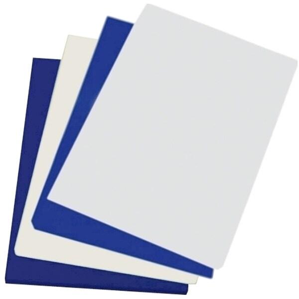 Coperta indosariere A-SERIES, A4, 250 g/mp, lucios, 100 bucati, albastru