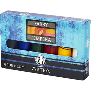 Tempera ASTRA, 20 ml, 6 culori