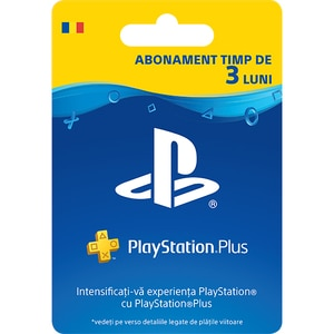 Abonament PS+ (PlayStation Plus) 3 luni (90 zile) RO PS4
