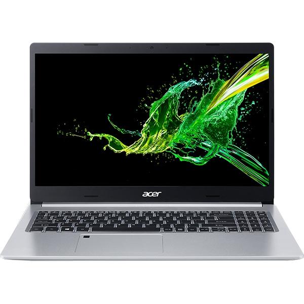 "Laptop ACER Aspire 5 A515-55, Intel Core i5-1035G1 pana la 3.6GHz, 15.6"" Full HD, 8GB, SSD 512GB, Intel UHD Graphics, Free DOS, argintiu"