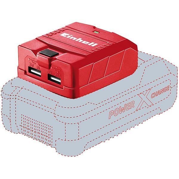Adaptor USB pentru acumulatori EINHELL Power-X-Change TE-CP 18 Li USB-Solo, iesire 5 V, 2.1 A