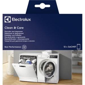 Solutie anticalcar si degresant ELECTROLUX E6WMDW12 Clean and Care, 12 bucati