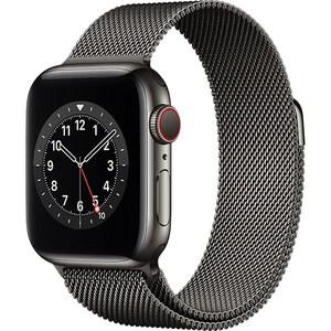 Apple Watch Series 6 GPS + Cellular, 44mm Graphite Stainless Steel Case, Graphite Milanese Loop