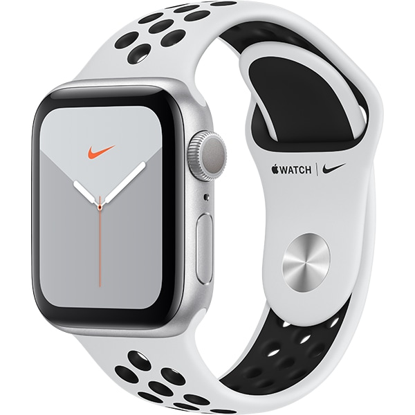 APPLE Watch Nike Series 5 40mm Silver Aluminium Case, Pure Platinum/Black Nike Sport Band