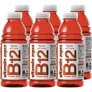 Apa cu vitamine B12 VITAMIN AQUA Apple&Raspberry bax 0.6L x 6 sticle