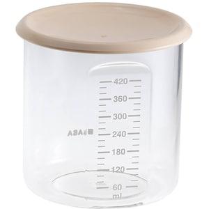 Recipient hrana BEABA B912543, 6 luni+, 420ml, bej-transparent
