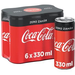 Bautura racoritoare carbocazoasa COCA-COLA Zero Zahar bax 0.33L x 6 doze