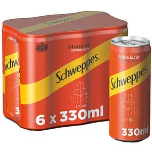 Bautura racoritoare carbogazoasa SCHWEPPES MANDARIN SLEEK 0.33L x 6 cutii