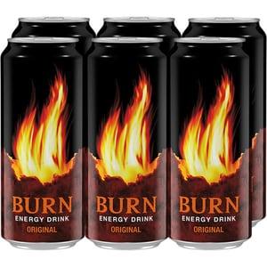 Bautura energizanta BURN Original bax 0.5L x 6 cutii