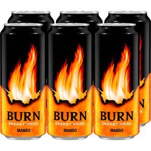 Bautura energizanta BURN mango bax 0.25L x 6 doze