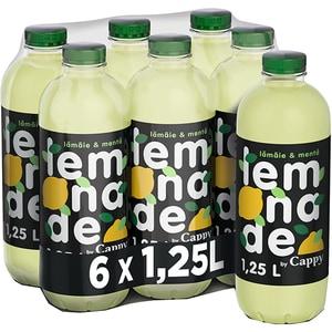 Bautura racoritoare necarbogazoasa CAPPY Minty Lemon bax 1.25L x 6 sticle