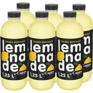 Bautura racoritoare necarbogazoasa CAPPY Happy Lemon bax 1.25L x 6 sticle