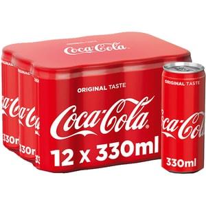 Bautura racoritoare carbogazoasa COCA-COLA Gust Original bax 0.33L x 12 doze