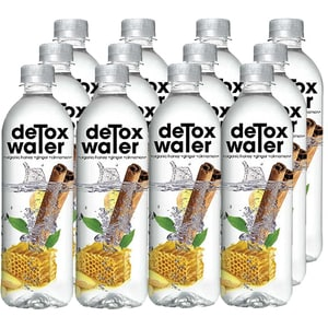Apa cu vitamine DETOX WATER Organic Honey&Ginger&Cinnamon bax 0.5L x 12 sticle