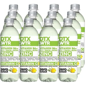 Apa cu vitamine DTX.WTR Zinc&Vitamin C Elderflower&Lemon bax 0.5L x 12 sticle