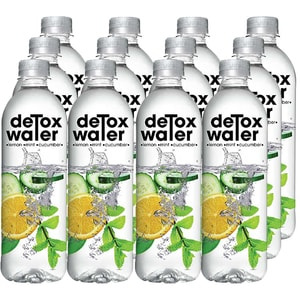Apa cu vitamine DETOX WATER Lemon&Mint&Cucumber bax 0.5L x 12 sticle