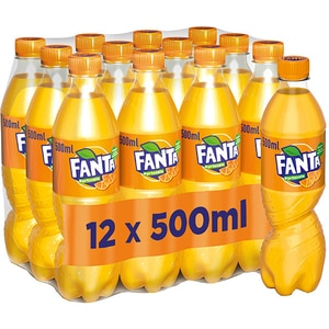 Bautura racoritoare carbogazoasa FANTA Orange bax 0.5L x 12 sticle