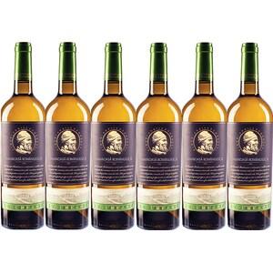 Vin alb demisec BUDUREASCA Premium Tamaioasa Romaneasca, 0.75L, 6 sticle