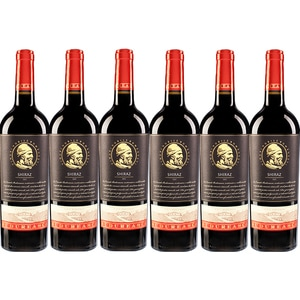 Vin rosu demisec BUDUREASCA Premium Shiraz, 0.75L, 6 sticle