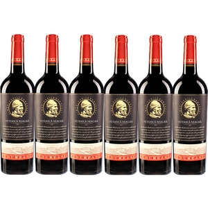 Vin rosu sec BUDUREASCA Premium Feteasca neagra, 0.75L, 6 sticle