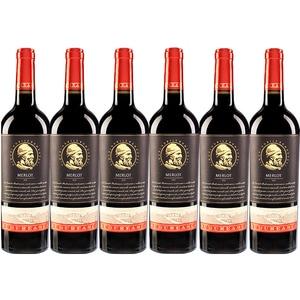 Vin rosu demisec BUDUREASCA Premium Merlot, 0.75L, 6 sticle
