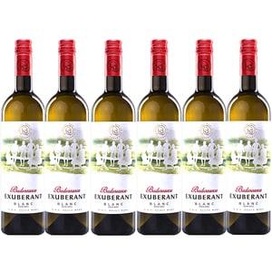 Vin alb demisec Budureasca Exuberant Blanc, 0.75L, 6 sticle