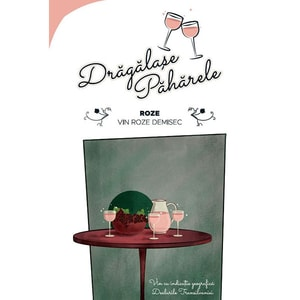 Vin rose demisec Jidvei Dragalase Paharele Rose, 10L, Bag in Box