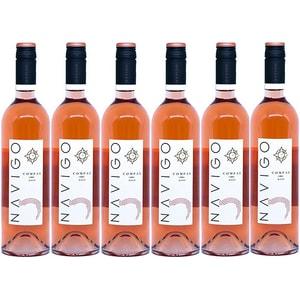 Vin rose sec Navigo Compas, 0.75L, 6 sticle