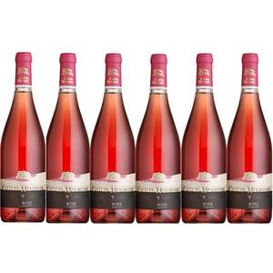 Vin rose demisec CRAMELE RECAS Castel Huniade, 0.75L, 6 sticle