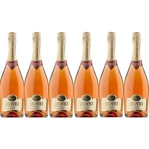 Vin spumant rose sec Jidvei Brut Roze, 0.75L, 6 sticle