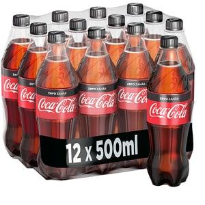 Bautura racoritoare carbogazoasa COCA-COLA Zero Zahar bax 0.5L x 12 sticle