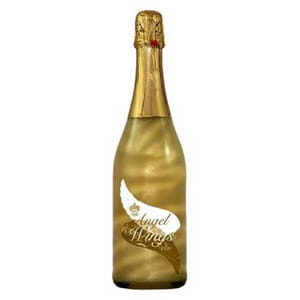 Vin spumant demisec Angel Wings Gold Apricot, 0.75L