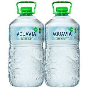 Apa plata alcalina AQUAVIA bax 5L x 2 sticle