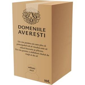 Vin alb demisec Averesti Feteasca Regala, 10L, Bag in Box